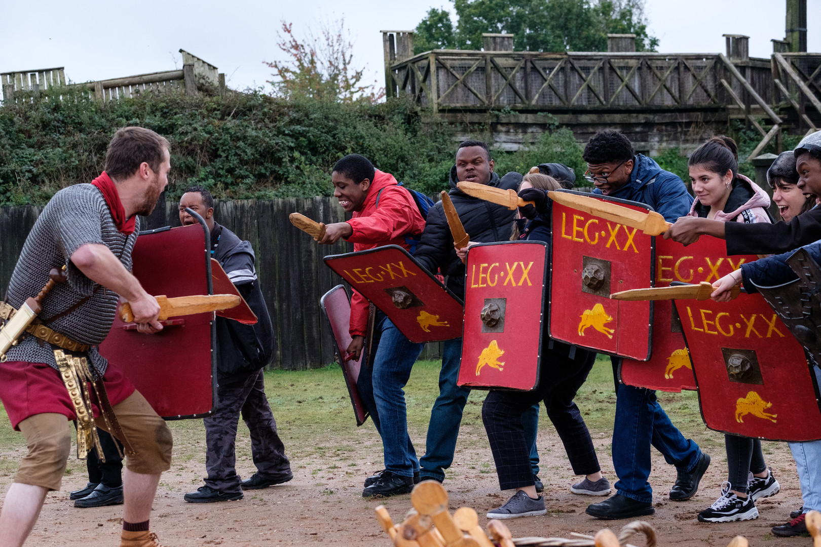 Whodunnits! 15th Oct Lunt Roman Fort-70.
