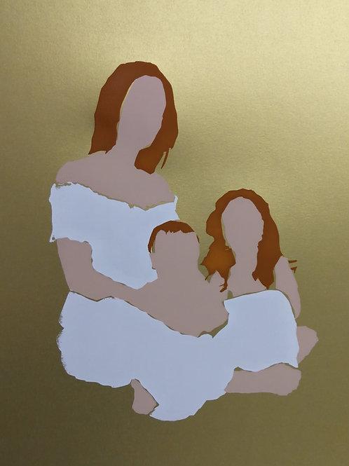 Family - gold / Sari Fishman