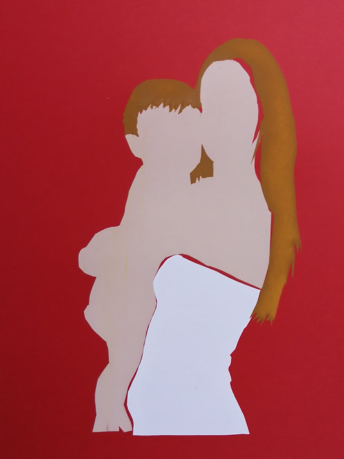 Hugging - red / Sari Fishman