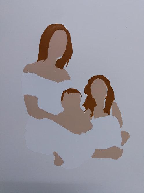 Family - white / Sari Fishman