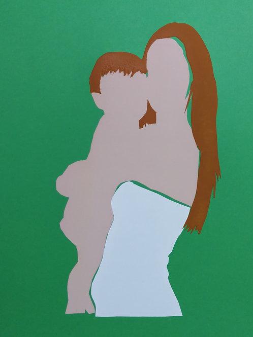 Hugging - green / Sari Fishman