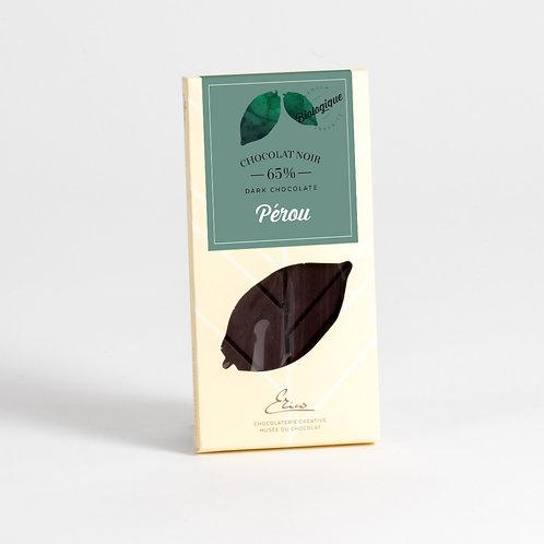 Tablette chocolat amer Pérou 65% BIO