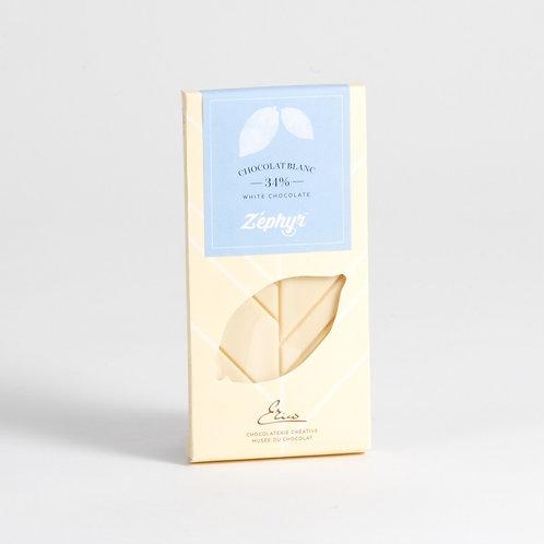 Tablette chocolat au blanc Zéphyr 34%