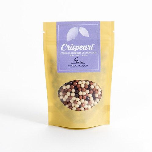 Crispearl céréales enrobées de chocolats Noir – Lait - Blanc 75g