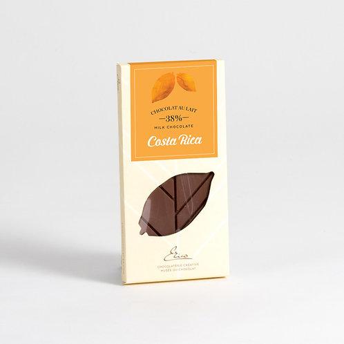 Tablette chocolat au lait Costa Rica 38%