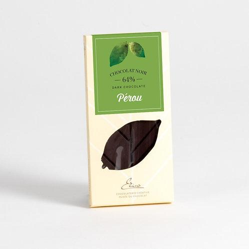 Tablette chocolat amer Pérou 64%