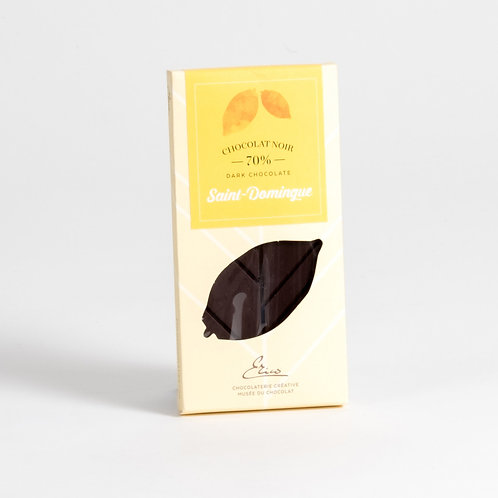 Tablette chocolat extra amer St-Domingue 70%