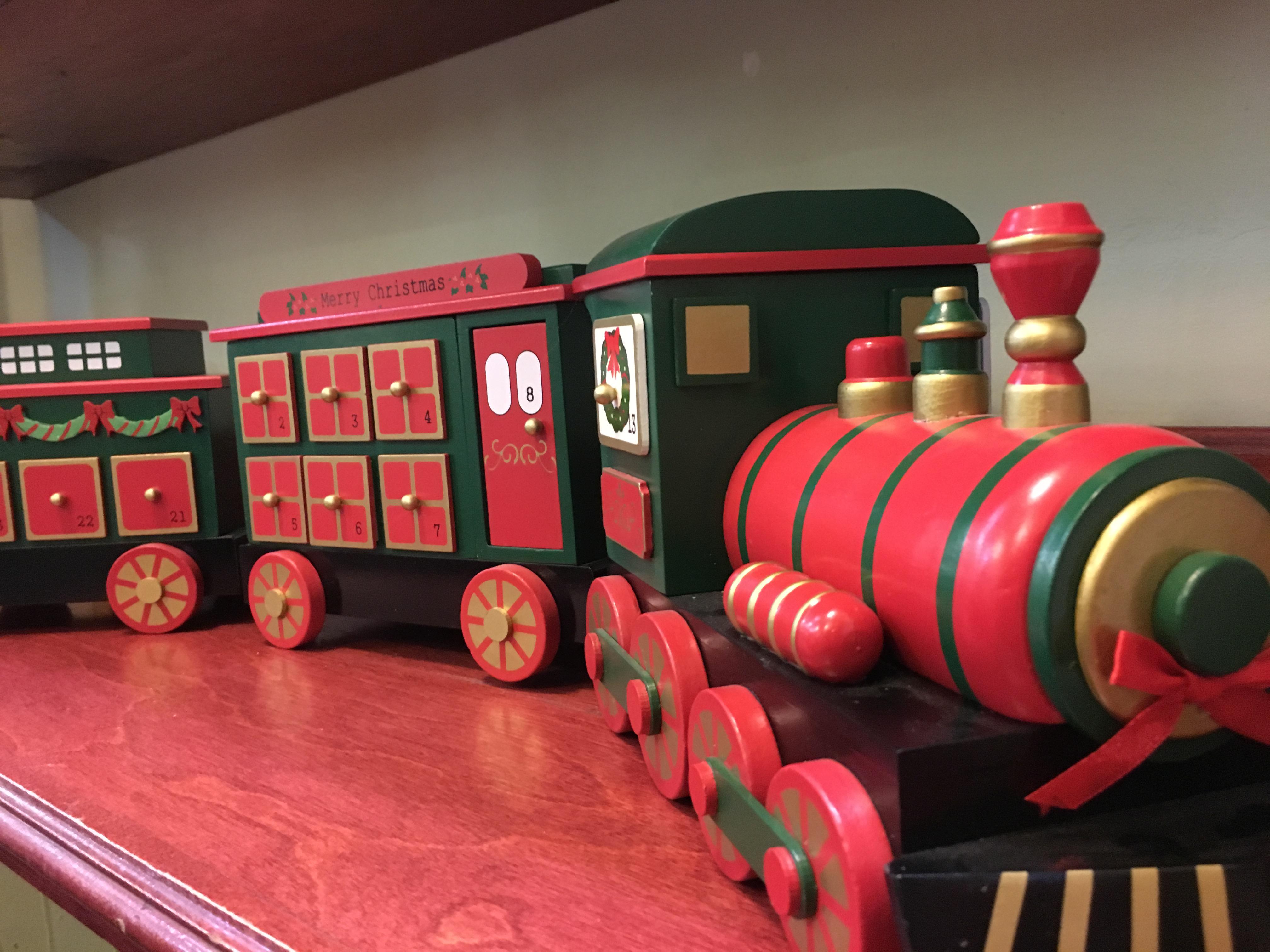 Train avec deux wagons