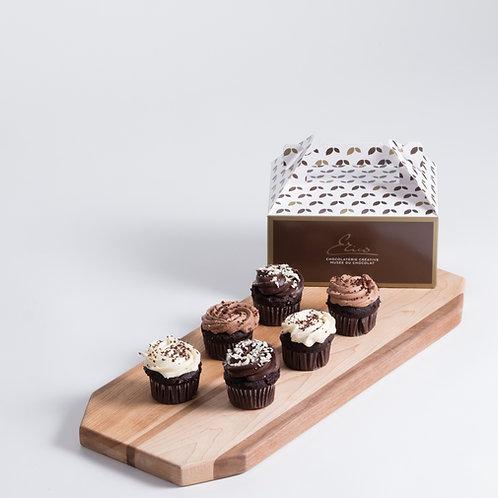 Les Cupcakes au Chocolat - Boîte de 12