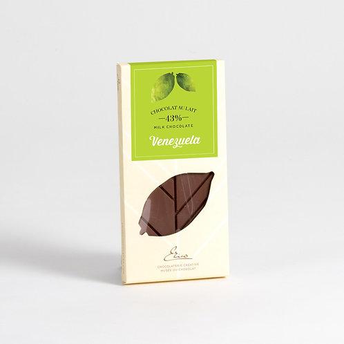 Tablette chocolat au lait Venezuela 43%