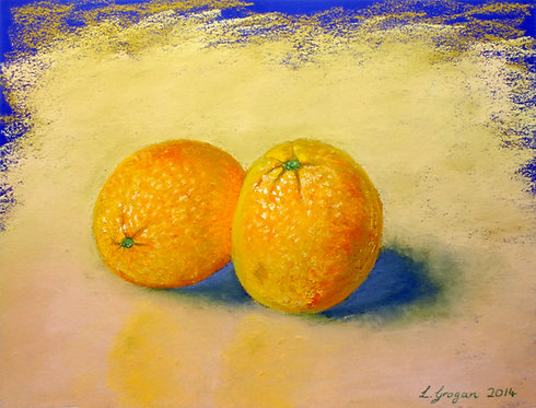 Two oranges (12 x 9 inches)