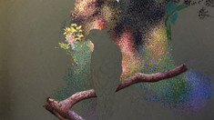 """Pointillism with pastels - """"Pacific Baza"""" WIP1-3"""