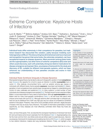 """Extreme Competence: Keystone Hosts of Infections"" published in TREE!"