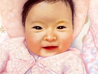 """Creating a recognisable portrait: a hundred different babies - """"Caitlin"""" WIP5-8"""