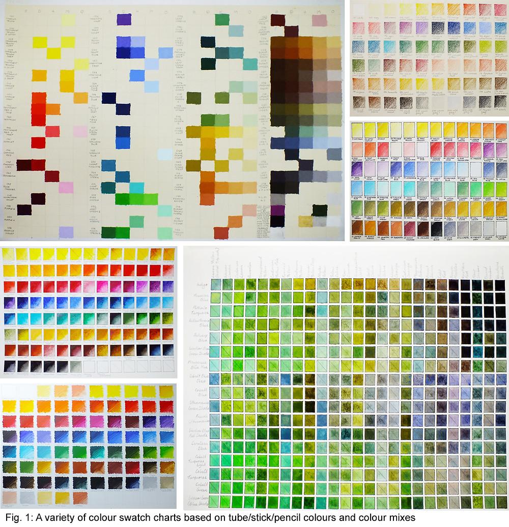 Colour charts and mixes Laura Grogan