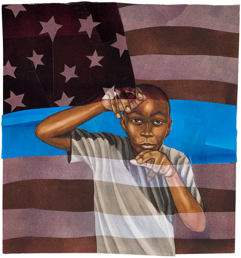 """Image courtesy of Bryan Collier from his book """"I, Too, Am America"""" by Langston Hughes and Bryan Collier."""