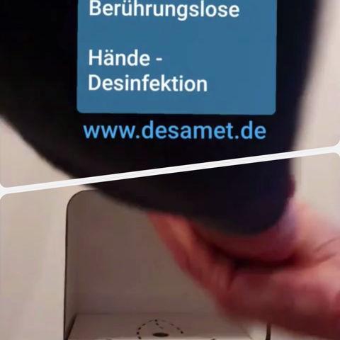 DesiApp - HyTower ist unsere kompakte Hygienestation für alle Zugangsbereiche