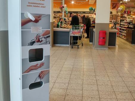 Hygienestation DesiAPP-HyTower  - zur Gesunderhaltung von Mitarbeitern, Kunden und Besuchern