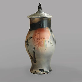 Sagger-fired burial urns for ashes