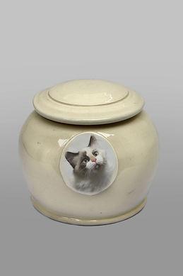 Pet Urn - Cream Round Style