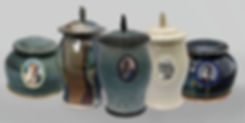 Burial urns for ashes - samples