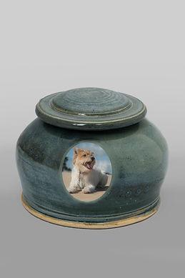 Pet Urn - Emerald Round Style