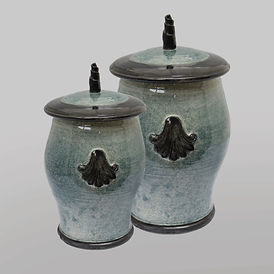 Custom burial urns for ashes without portrait