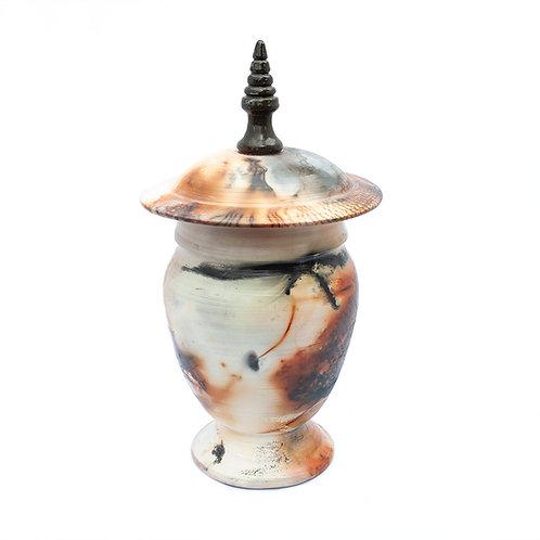 Lidded Vase: Saggarware