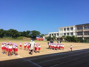 旧中学校での練習開始☆