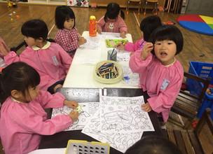 幼稚園 2日目のようす