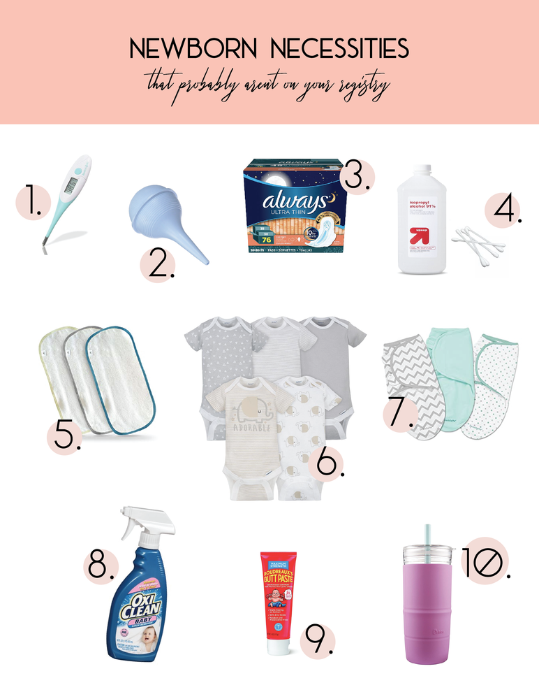 55f625e1031 Newborn Necessities