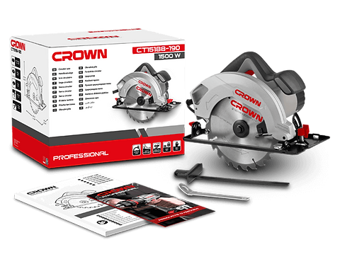 "Crown Circular Saw 1500W 7"" - CT15188-190"