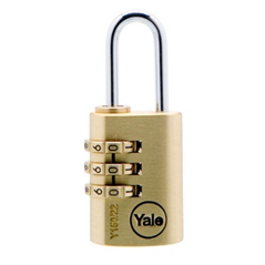 Yale Combination Brass Padlock 30mm