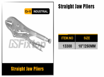 "GSFixtop 10"" Straight Jaw Vice Grip (Locking Plier) -13300"