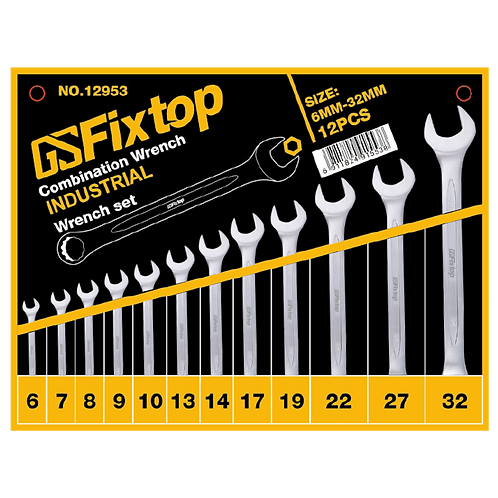 GSFixtop Combination Wrench Set 12PCS