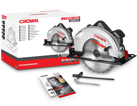 "Crown Circular Saw 2000W 9"" - CT15210-235"
