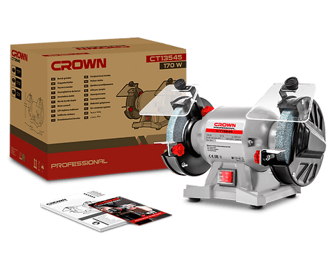 "Crown Bench Grinder 170W 5"" - CT13545"