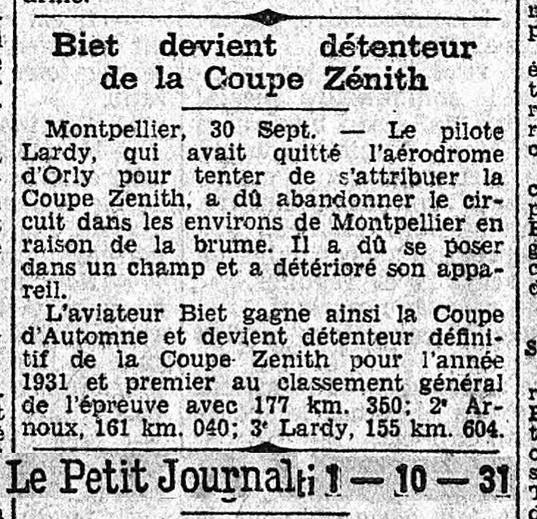 01/10/31 Le Petit Journal