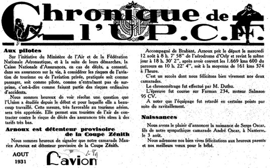 08/1931 L'Avion