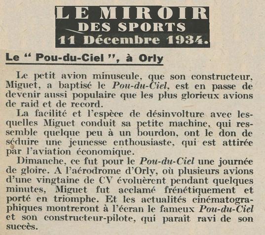 11/12/34 - Le Miroir des Sports