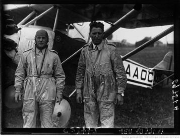 Orly : concours international d'avions de tourisme : Susten, Ramuello : [photographie de presse] / Agence Meurisse 1929