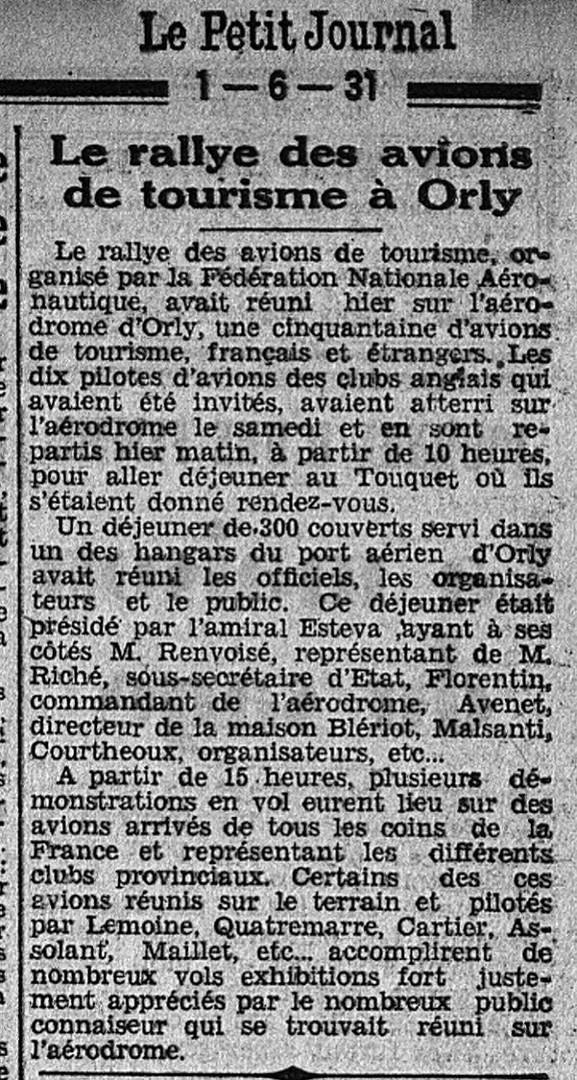 01/06/31 Le Petit Journal