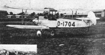 PETROL TEST AT THE ORLY MEETING: (5) The Albatros L.82 with Gipsy engine
