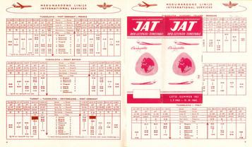 JAT - du 01 juillet au 31 octobre 1973