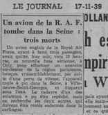 © Le Journal du 17/11/39