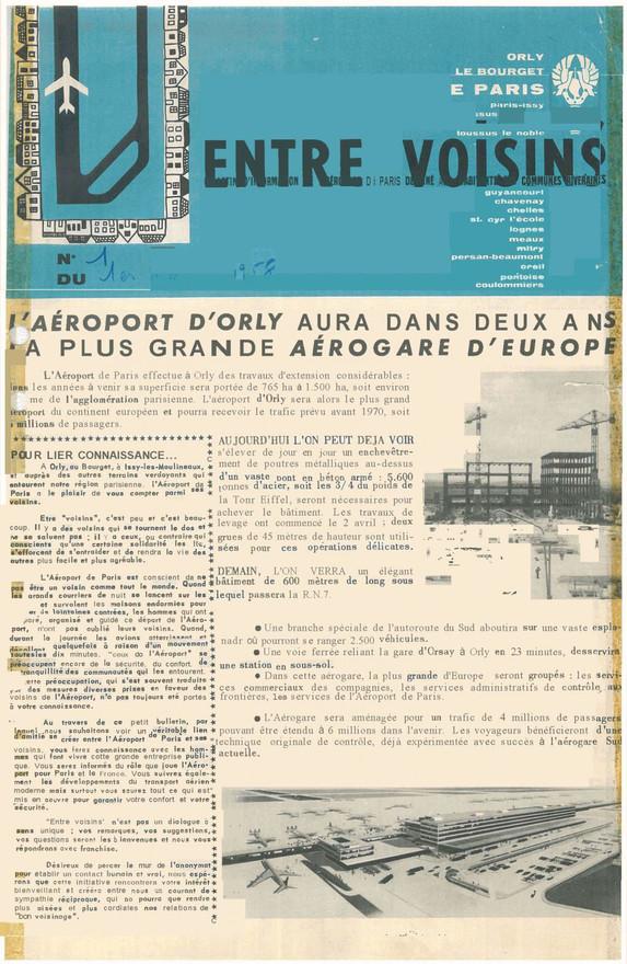 Entre Voisins - numéro 1, 1958
