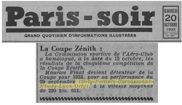 20/09/33 Paris Soir