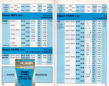 Air Vendée - du 27 Mars ai 29 Octobre 1988
