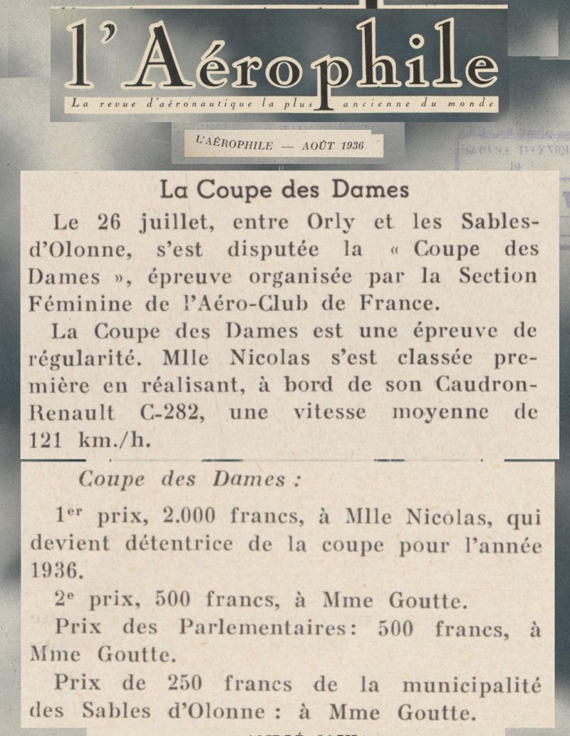 aout 1936 - L'Aérophile