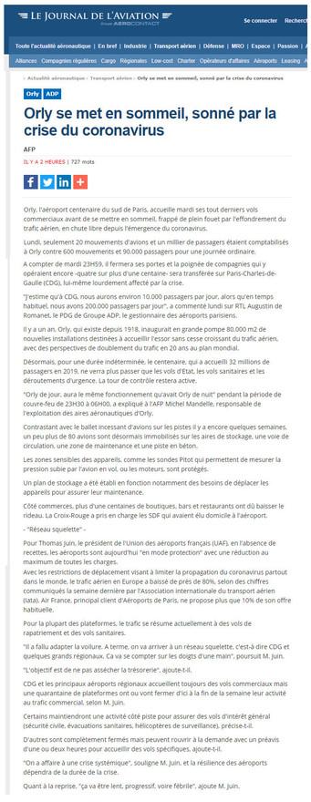 31/03/20 Journal de l'Aviation